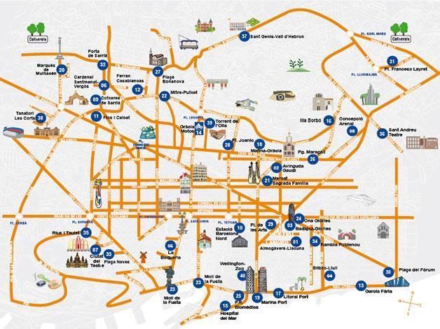 Carte Transport Barcelone Prix.Parkings Pas Chers A Barcelone Ou Se Garer Sans Galerer