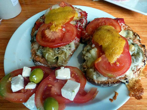 la-nena pain gratiné et tomate