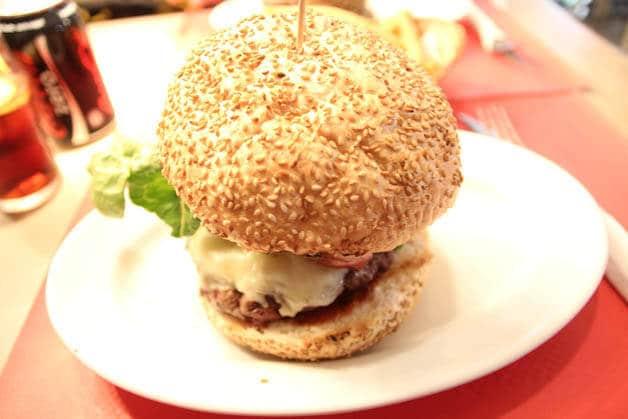 Negro Carbón hamburger