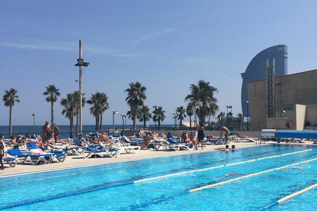 Notre palmar s de piscines en plein air barcelone - Barcelone hotel piscine interieure ...