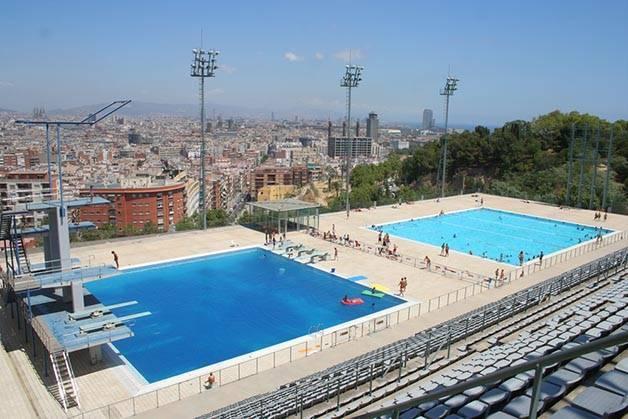 Notre palmar s de piscines en plein air barcelone for Piscina montjuic barcelona