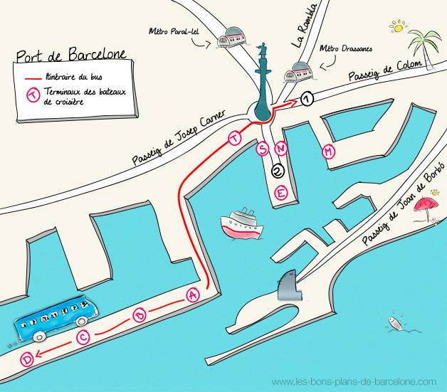 Favori Arriver à Barcelone en bateau de croisière PT88