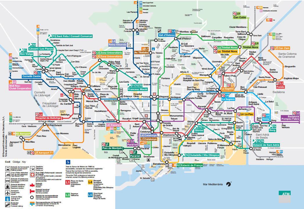 Exceptionnel Métro de Barcelone: plan, horaires et infos pratiques NO75
