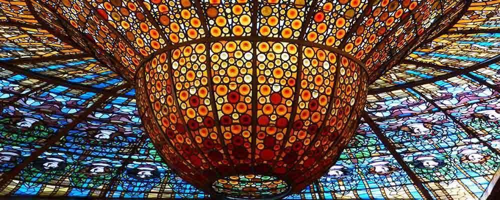 Palau de la m sica catalana l 39 une des plus belles salles - Art nouveau architecture de barcelone revisitee ...