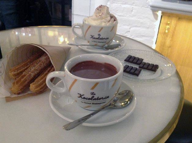 chocolat et churros chocolaterie balaguer Barcelone