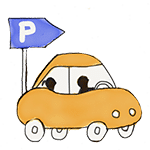 dessin voiture allant au parking